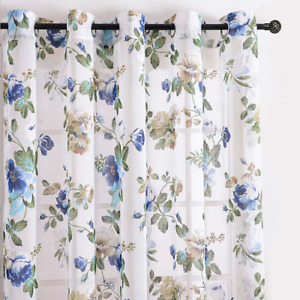 Floral Window Curtains For Tulle Curtains For Window Sheer Curtains Panel Drapes