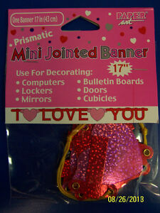 I Love You Valentine's Day Party Decoration Hanging Mini Jointed Letter Banner