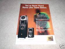 JBL SVA2100, HLS810 Ad from 1997, HORNS!