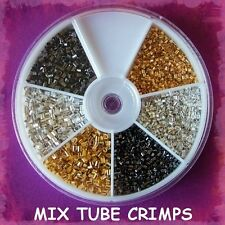 FINDINGS MIX SIZE TUBE CRIMP BEADS / STORAGE BOX / JEWELLERY MAKING