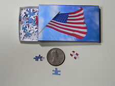 "Mini Jigsaw Puzzle 100 piece 1:12 ""American Flag"""