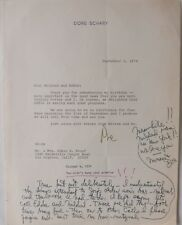 Dore Schary signed letter with ALS, September 3, 1974