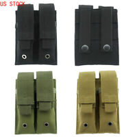 US Molle Double Magazine Pouch Holster Pistol Mag Bag Holder for Outdoor Hunting