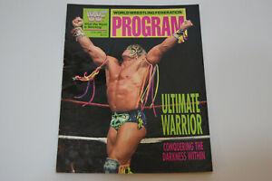 Vintage 1991 WWF Wrestling Program Volume 194 ULTIMATE WARRIOR