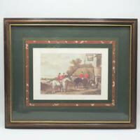 Vintage Returning From The Hunt By W Shayer Engraved By C.R. Stock Framed