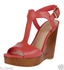 5ab17dcffe4 VINCE CAMUTO MATHIS BITTERSWEET GRAPFRUIT T-STRAP WOMEN WEDGE SHOES OPEN TOE