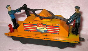 American Flyer S-gauge #742 Hand Car ALL ORIGINAL  & TESTED -Complete/Works Well