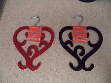 """2 Pair Mini Scarf Hanger 8"""" Velvet covered  - Non slip - NEW"""