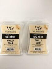 2 Vanilla Bean WoodWick Hourglass 3 oz Wax Melt, free USA shipping