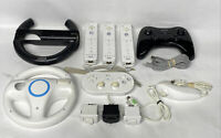 11 PC NINTENDO Wii U Pro/Remote Controllers, Racing Wheel,U Nunchuck. More AS/IS