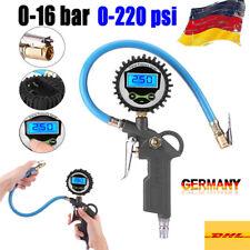 Reifenfüller Reifendruckpistole Druckluftpistole Messgerät Manometer 0-16 Bar TS