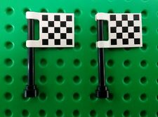 *NEW* Lego 2x2 Checkered Flags Car Racing Printed Plates - 2 pieces