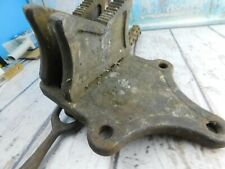 Vintage Vulcan Pipe Chain Clamp No4 Bench Mount Vise Jh Williams