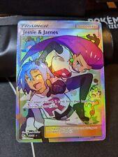 Jessie & James 68/68 Hidden Fates Ultra Rare Full Art Pokemon Card NM