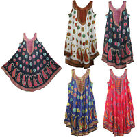 women dress tunic ladies summer beach top kaftan hippie boho party dress #1676