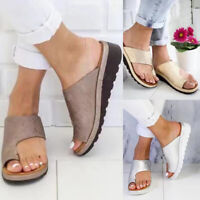 Women Summer Sandals Slippers Feet Correct Flat Sole Three Arch Support Gold TYA