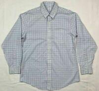 Brooks Brothers Regent Mens Blue Plaid L/S Button Down Dress Shirt Sz 16-34 B6
