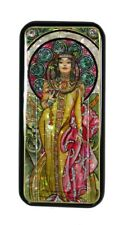 Russian Lacquer Box Art Nouveau Style after painting of ALPHONSE MUCHA #3962