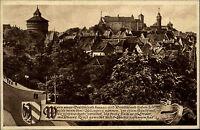 Nürnberg Mittelfranken AK 1925 Hallertor Gedicht Wappen Panorama Verlag Stöger