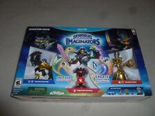 NEW Wii U SKYLANDERS IMAGINATORS STARTER PACK MASTER KING PEN GOLDEN QUEEN NIB >