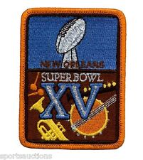 SUPER BOWL 15 ~ Raiders vs Eagles OFFICIAL SB XV Willabee & Ward NFL PATCH ONLY