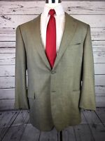 Joseph Abboud Mens Gray Blazer Jacket 2-Button 85% Wool Size 44L - #118