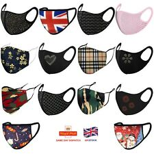 Face Mask Double Layer face Covering UK Virus Protection Washable Reusable