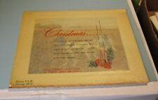 Christmas Card Salesman's Sample Art Piece Hunting Dogs 8x10 Holiday Souvenir