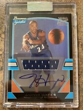 JARVIS HAYES WIZARDS 2003-04 BOWMAN SIGNATURE EDITION JERSEY AUTO RC 829/1250