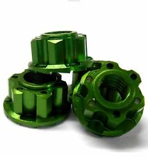 YA-0448GN 1/10 M4 4mm Alloy Aluminium Wheel Flange Knurled Lock Nut x 4 RC Green