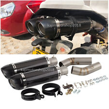 For Ducati 848 848 EVO 1098 1198 Motorcycle Exhaust Mid Tail Pipe Slip On 51mm