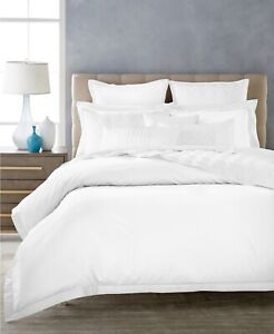 Hotel Collection 680 Thread Count Supima Cotton White FULL / QUEEN Duvet Cover