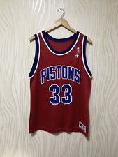 DETROIT PISTONS #33 GRANT HILL NBA BASKETBALL SHIRT JERSEY CHAMPION
