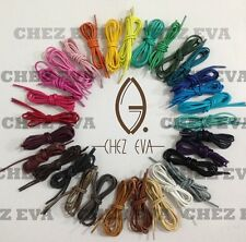 4 lengths (70/80/100/120cm) multi color cotton waxed round cord dress shoe laces