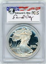 1987-S $1 Proof Silver Eagle PCGS PR70 Ed Moy Signed Red White and Blue Label