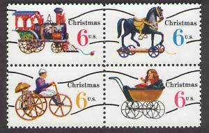US. 1415a-18a. 6c. Christmas Toys. 1418c. Precanceled Block of 4. MNH. 1970