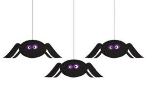 Creative Converting Halloween Dimensional Spider Hanging Cutouts 3pc per Package