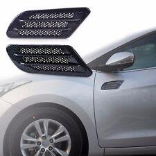 2 Pcs Car Carbon Fiber Side Air Flow Vent Fender Hole Cover Intake Duct Sticker
