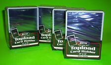 100 TOPLOAD CARD HOLDER - WHITE BORDER,FOR TRADING CARDS,12M 3 X 4 RIGID PLASTIC
