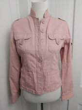 Periscope Womens Pale Pink Utility Jacket Button Up Size M Lightweight