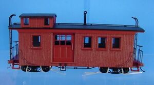On30 BACHMANN 26797 SIDE DOOR WOOD CABOOSE PAINTED OXIDE BROWN UNLETTERED NEW!