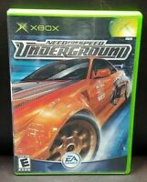 Need For Speed Underground  Microsoft Xbox OG Rare Game Complete Working Tested