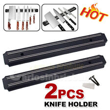 2x Magnetic Knife Rack Kitchen Tools Wall Mount Storage Holder Utensil Chef