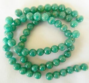 Amazonite, Polished Round 6mm Russian Amazonite Beads Bag of 15 Great Colour