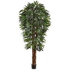 """Nearly Natural 5456 Raphis Silk Palm Tree- 84"""" New"""