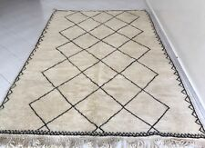 Beni Ourain Berber Moroccan Rug Carpet - Natural Colors - HandKnotted  10' x 6'