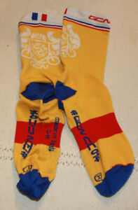 GCNCC bicycle socks/Made in Italy/Bright Yellow