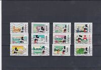FRANCE 2018 MICKEY SERIE COMPLETE DE 12 TIMBRES OBLITERES
