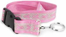 Pink Ribbon Glitter Breakaway Lanyard - Breast Cancer Awareness