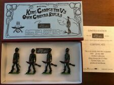 Britains Toy soldiers Archive Collection King George V. own Ghurka rifles 49003